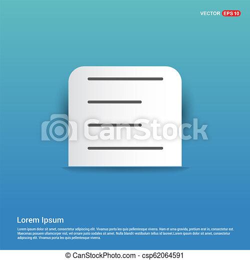menu icon - Blue Sticker button - csp62064591