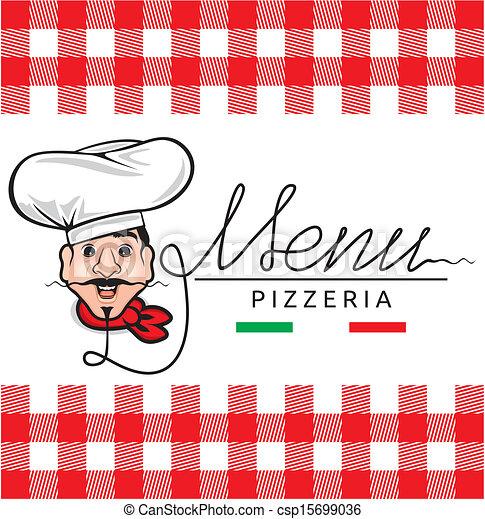menu, italiano, restaurante - csp15699036