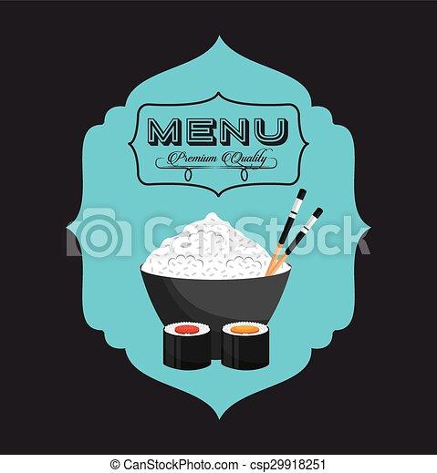 menu, japonaise - csp29918251