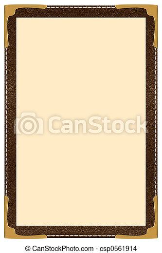 menu, jednorazowy, strona - csp0561914