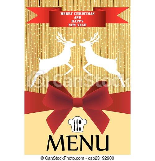 menu, natale - csp23192900