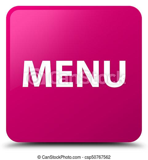 Menu pink square button - csp50767562