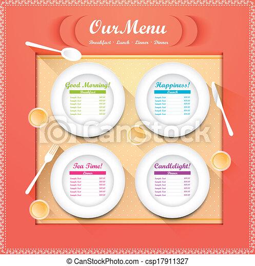 menu, restaurant - csp17911327