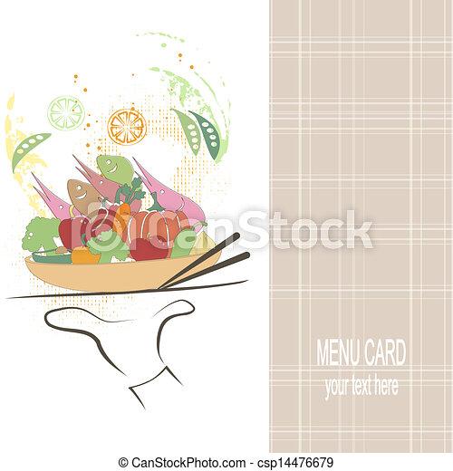 menu, restaurant - csp14476679