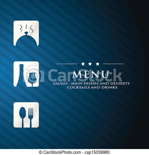 menu restaurant presentation with - csp15039980