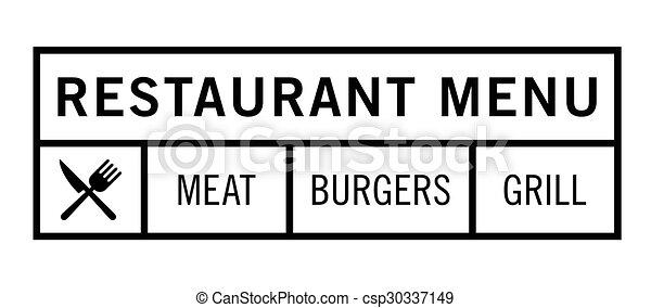 menu, restaurant - csp30337149