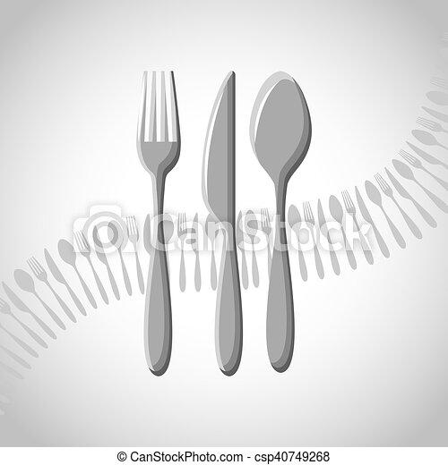 menu restaurant with cutlery set - csp40749268