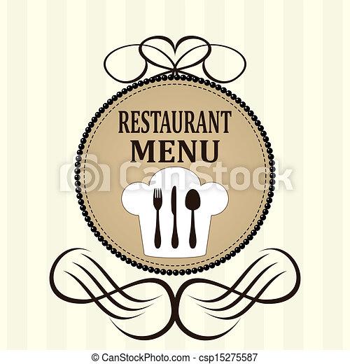 menu, ristorante, disegno - csp15275587