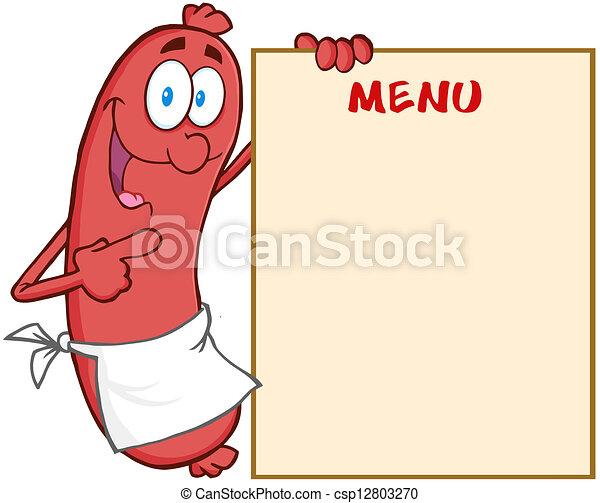 menu, saucisse, projection - csp12803270