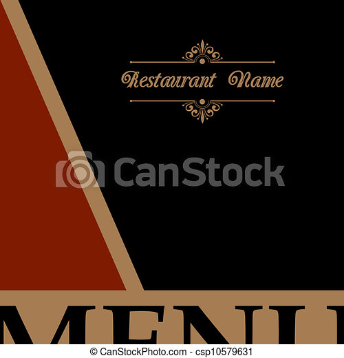 menu, style, conception, retro, restaurant - csp10579631