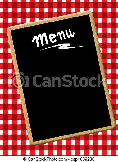 menu, tableau noir - csp4609236