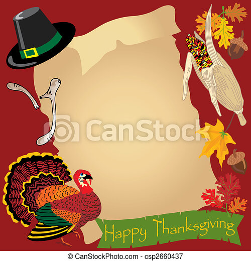 menu, thanksgiving, jour - csp2660437