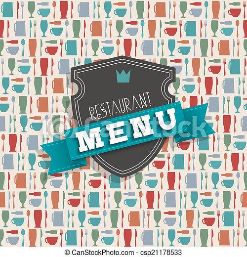 menu, vecteur, conception, restaurant - csp21178533