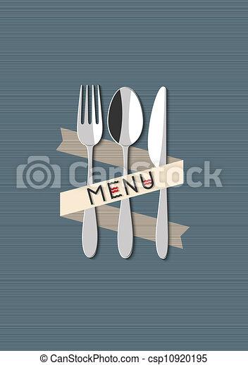 menu, vecteur, restaurant, conception - csp10920195
