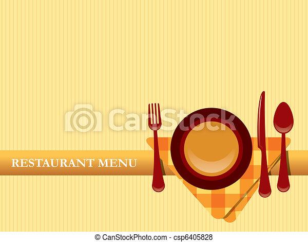 menu, vettore, disegno, ristorante - csp6405828