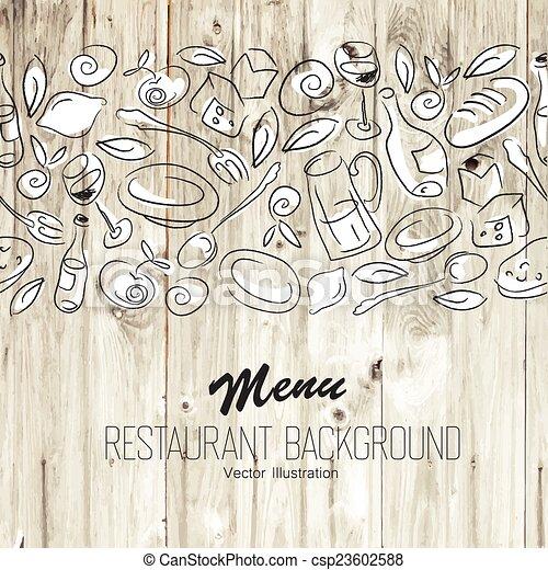 menu, vettore, template., ristorante - csp23602588