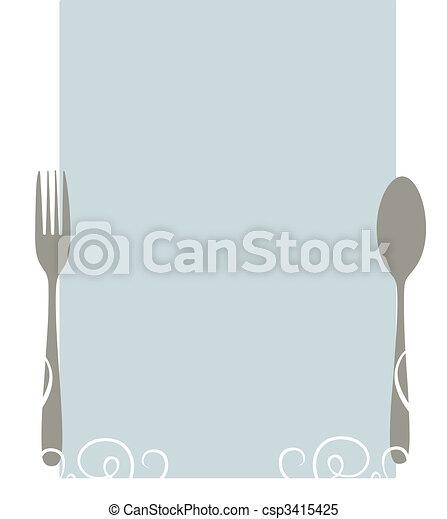 menu, vuoto - csp3415425