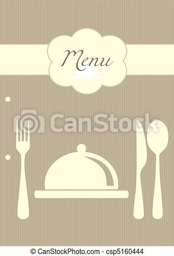 meny, bakgrund, restaurang - csp5160444