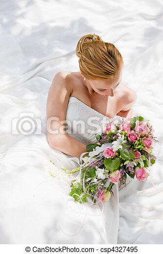menyasszony, -, esküvő - csp4327495