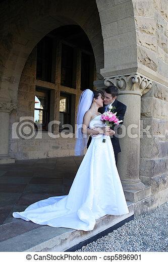 menyasszony, lovász, esküvő - csp5896901