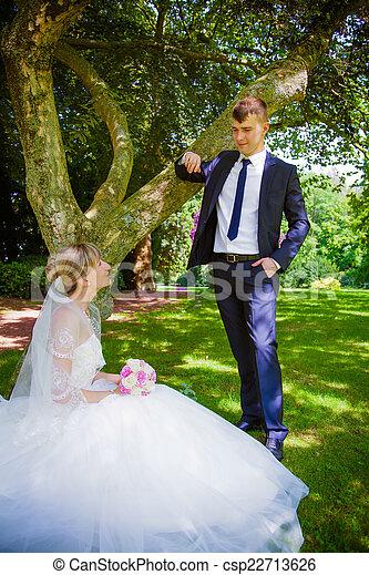 menyasszony, lovász, liget, boldog - csp22713626
