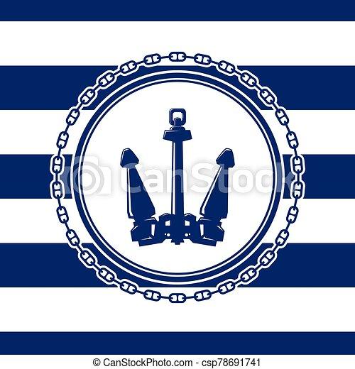 mer, ancre, emblème - csp78691741