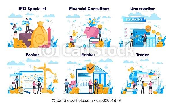 mercado, inversión, idea, profesión, finanzas, set., acción, financiero - csp82051979
