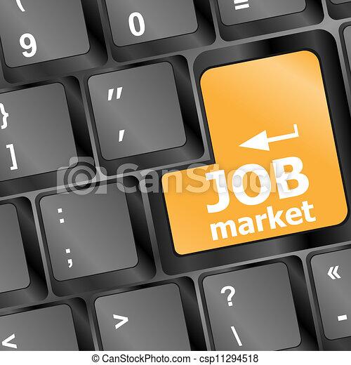 La clave del mercado laboral en el teclado - csp11294518