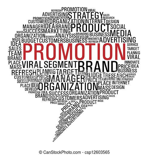 Una burbuja de promoción de marketing - csp12603565