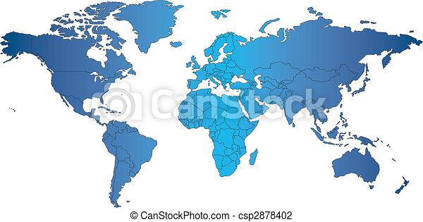 mercator, värld, länder, karta - csp2878402