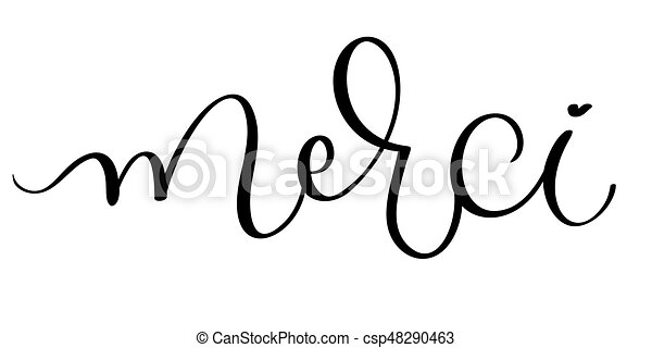 merci vector vintage word text calligraphy lettering illustration rh canstockphoto com Image De Merci Thank You Clip Art