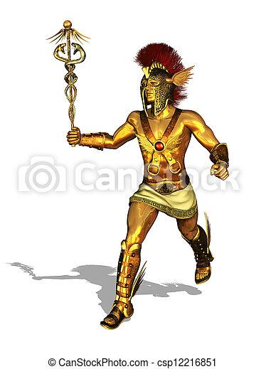 Mercurio Griego Corriente Dios Comerciantes Render Dios Griego