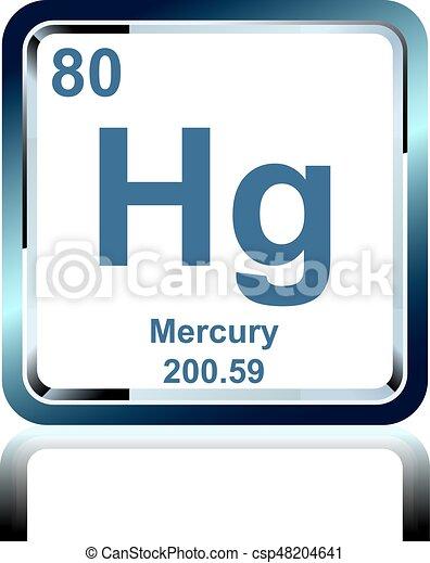 Mercurio qumico tabla peridica elemento mercurio vector mercurio qumico tabla peridica elemento csp48204641 urtaz Gallery
