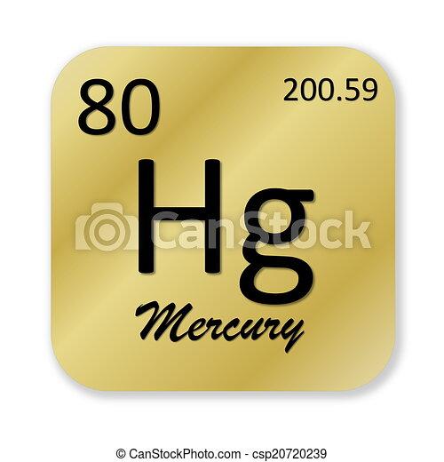 Mercury Element Black Mercury Element Into Golden Square Shape