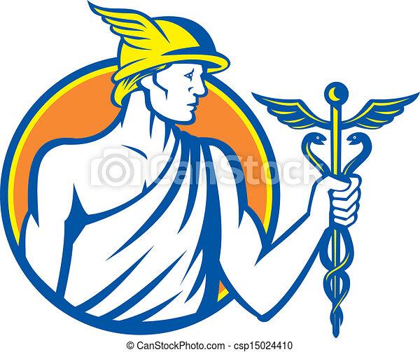 Mercury Holding Caduceus Staff - csp15024410