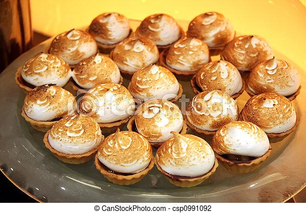 Meringue desserts - csp0991092
