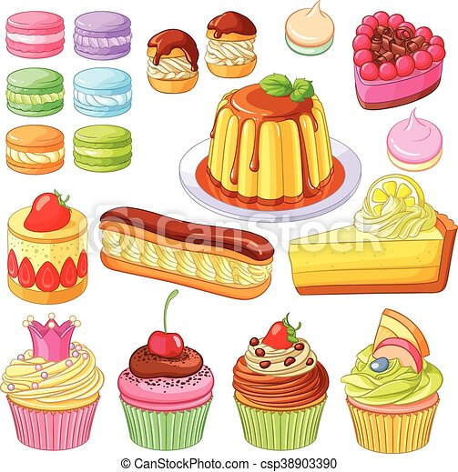 meringues tarte ensemble citron cupcakes color vecteurs eps rechercher des clip art. Black Bedroom Furniture Sets. Home Design Ideas