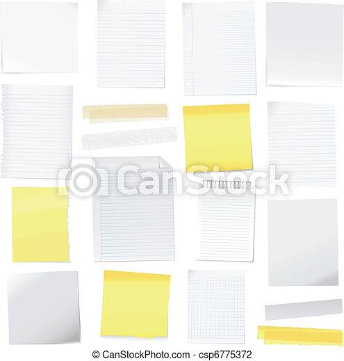 merk papier op, vector, post-it - csp6775372