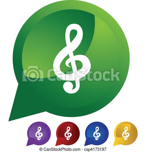 Musiknote - csp4173197
