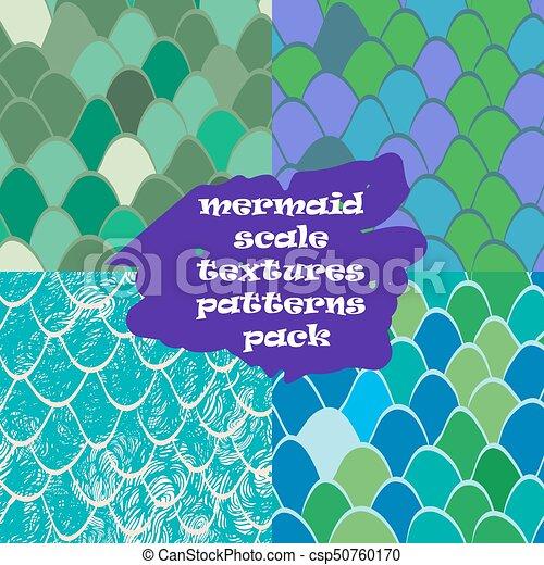 Mermaid Scale Texture Pattern Seamlessreptile Skin Texture