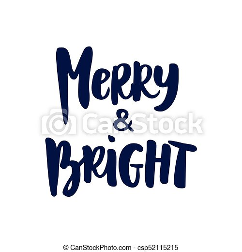 Clip Art Merry and Bright