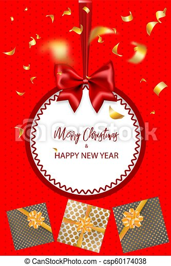 Merry Christmas 2019.Merry Christmas 2019 New Year Greeting Card