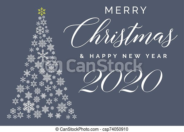 merry christmas and happy new year 2020 lettering template greeting card or invitation winter holidays related typograph https www canstockphoto com merry christmas and happy new year 2020 74050910 html