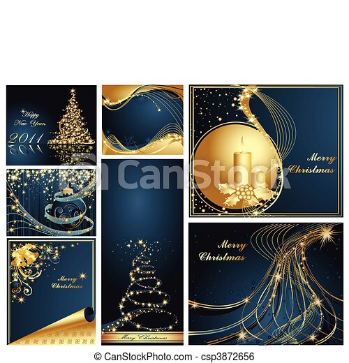 Merry Christmas and Happy New Year  - csp3872656