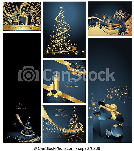 Merry Christmas and Happy New Year  - csp7678288