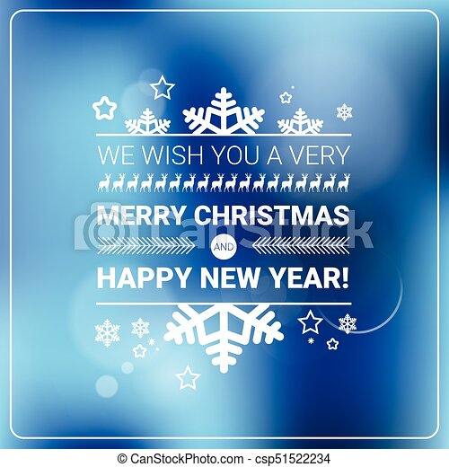 Merry Christmas And Happy New Year Banner Winter Holidays Greeting Card Concept - csp51522234