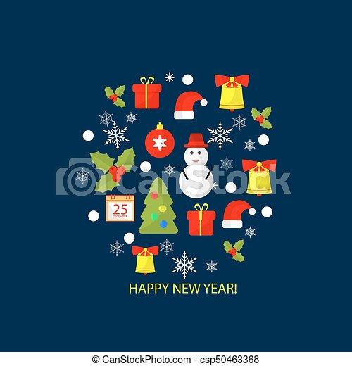 Happy New Year Flat Design 25
