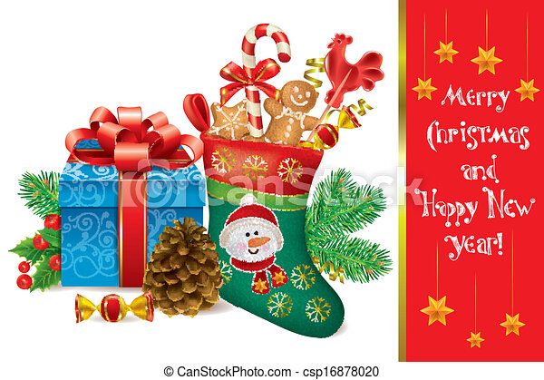 merry christmas and happy new year csp16878020