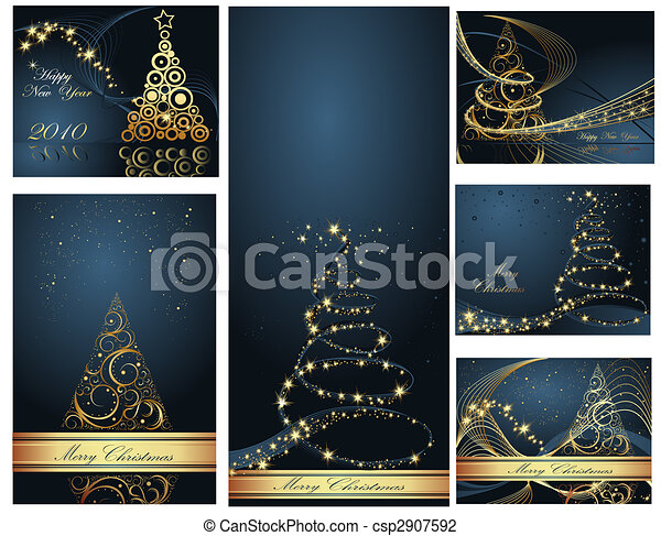 Merry Christmas and Happy New Year collection - csp2907592