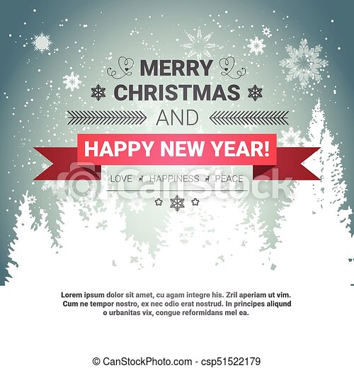 Merry christmas and happy new year concept winter holidays greeting ...